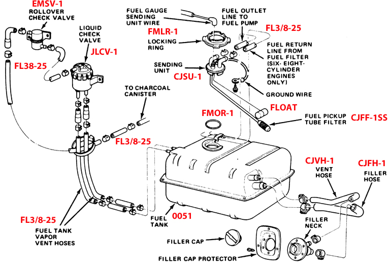 Jeep Dana 44 Rear Axle Diagram On Cj7 on fuel tank level sending unit